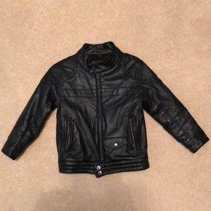 Baby GAP toddler moto leather jacket